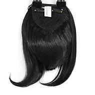 Neitsi 1pcs 8 '' 25g kurze glatte Haare Fringer Clip innen auf Haar schlägt synthetische Haarverlängerung Stücke 1 #