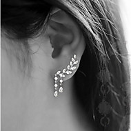 Stud Earrings Tassel Fashion Alloy Leaf Silver Gold Jewelry For Party Birthday Daily 1 Pair