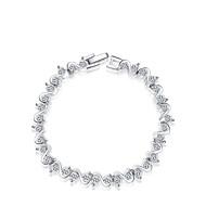 or 18k / bijoux en argent bracelet en cristal bracelet pour dame