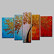 מצויר ביד אנשים מאוזן,מודרני חמישה פנלים בד ציור שמן צבוע-Hang For קישוט הבית