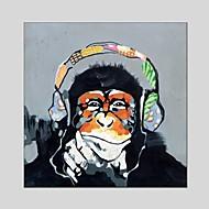Maalattu Eläin Neliö,Moderni Classic 1 paneeli Kanvas Hang-Painted öljymaalaus For Kodinsisustus