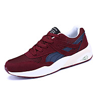 Men's Athletic Shoes Spring Summer Fall Winter Comfort Synthetic Tulle Outdoor Athletic Casual Lace-up Burgundy Gray Black Running