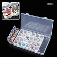 28 Lattice Separate Transparent Storage Jewelry Drill Box