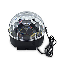 LED-Floodlights Magic LED Light Ball Party Disco Club DJ Toon Lumiere LED Crystal Light Laser Projector 6W - - -Automatische strobe