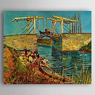 Håndmalte Landskap Horisontal,Europeisk Stil Et Panel Lerret Hang malte oljemaleri For Hjem Dekor