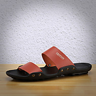 Herre-PU-Flat hæl-Komfort-Tøfler og flip-flops-Fritid-