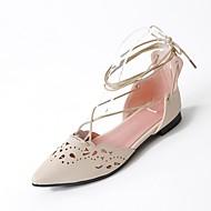 נשים-שטוחות-חומרים בהתאמה אישית-נוחות בלרינה חדשני נעלי בובה (מרי ג'יין) גלדיאטור רצועת קרסול נעלי ילדת הפרח סוליות מוארות נעלי מועדון--