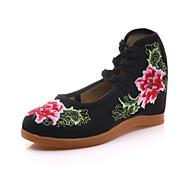 Dame-Lerret-Kilehæl-Komfort Original brodert sko-Oxfords-Friluft Kontor og arbeid Formell Fritid Sport-