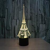 tårn 3 d lampe kreativ visuel stereo lampe touch lamper projektion lampe