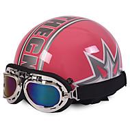 Motorcykel hjelme åbent ansigt halv motorcykel&Beskyttelsesbriller hjelm unisex ny sommer vintage