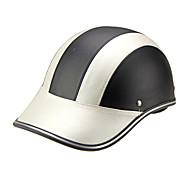 Motorová helma baseballová čepice styl bezpečnostní klobouk anti-uv stříbrná černá