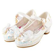 Svatební obuv-Koženka Třpytky-Novinky Flower Girl Boty Pohodlné-Dívčí--Svatba Šaty Běžné Party-Plochá podrážka