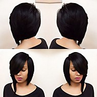 Heat Resistant Straight Bob Short Synthetic Wig Black Hair 14inch 185g WS646
