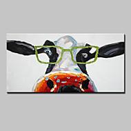 Kézzel festett Állat Vízszintes,Modern Európai stílus Egy elem Vászon Hang festett olajfestmény For lakberendezési