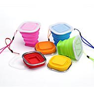 トラベルマグ 折り畳み式 旅行用食器 のために 折り畳み式 旅行用食器 イエロー レッド グリーン ブルー ピンク