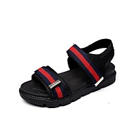 Boys' Sandals Comfort PVC Summer Fall Casual Walking Comfort Hook & Loop Flat Heel Blue Green Black Under 1in