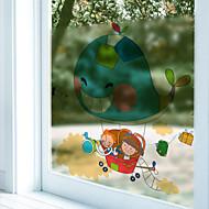 Eläinkuviointi Moderni Ikkunatarra,PVC/Vinyl materiaali ikkuna Decoration