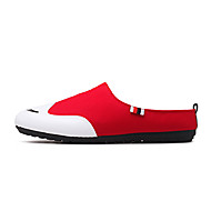 Men's Clogs & Mules Moccasin Canvas Summer Fall Casual Dress Party & Evening Outdoor Office & Career Moccasin Black Gray Ruby Flat