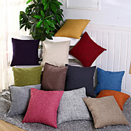 12 Solid Color Cotton/Linen Pillow Covers Sofa Pillow Case