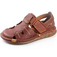 Homme Sandales Cuir Nappa Printemps Eté Automne Chaussures Tendances Noir Brun claire 2,5 à 4,5 cm