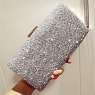 Women Bags All Seasons PU Evening Bag with Rhinestone for Event/Party Party & Evening Club Gold Black Silver