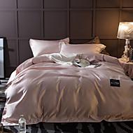 Massiv 4 Stück Baumwolle Seide Handgefertigt Baumwolle Seide 1 Stk. Bettdeckenbezug 2 Stk. Kissenbezüge 1 Stk. Betttuch