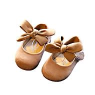 """בנות נעלי סירה רצועה אחורית PU אביב סתיו יומיומי עקב עבה בז' אפור חום ס""""מ 2.54 - ס""""מ 4.45"""