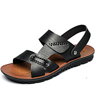 Men's Sandals Fall Winter Comfort Cowhide Outdoor Office & Career Dress Casual Upstream shoes Light Brown Black Big Size