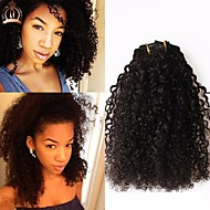 8a Kinky Curly Clip in Human Hair Extensions Filipijns 100% Human Remy Hair Menselijk Haar 120g / Set Natural Color