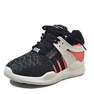 Femme Chaussures d'Athlétisme Confort Polyuréthane Eté Habillé Marche Confort Lacet Talon Plat Noir Gris 5 à 7 cm