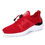 """גברים נעלי ספורט סוליות מוארות טול קיץ סתיו יומיומי שחור אדום ס""""מ 2.54 - ס""""מ 4.45"""