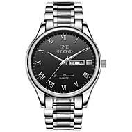 Men's Sport Watch Fashion Watch Mechanical Watch Mechanical manual-winding Calendar Water Resistant / Water Proof Alloy Band Silver Gold
