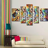Impresiones de Arte Abstracto Modern,Cinco Paneles Horizontal Impresión de Pigmentos Decoración de pared For Decoración hogareña