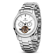 Men's Fashion Watch Mechanical Watch Automatic self-winding Water Resistant / Water Proof Alloy Band Silver Brown