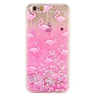 ケースアップルのiPhone 7 7プラスフラミンゴキラキラ輝くパターン流れる液体ハードpc 6sプラス6プラス6s 6