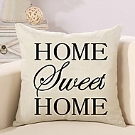 1 Pcs HOME Quotes & Sayings Printing Pillow Cover Creative Sofa Cushion Cover Pillow Case
