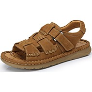 Camel Men's Cooling Outdoor Leisure Comfort Sandals Cow Leather Shoes Color Khaki/Brown