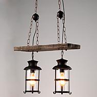 Lampy widzące ,  Retro Wzór Cecha for Styl MIni Drewno/Bambus Living Room W domu Korytarz 2 żarówki