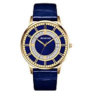 Men's Dress Watch Fashion Watch Quartz Genuine Leather Band Casual Black Blue