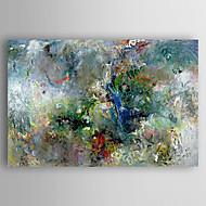 Pintados à mão Abstrato Horizontal,Moderna Estilo Artístico Abstracto 1 Painel Tela Pintura a Óleo For Decoração para casa