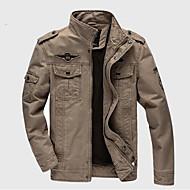 Bărbați Stand Jachetă Casul/Zilnic Simplu,Mată Manșon Lung Toamnă Iarnă-Regular Bumbac Altele
