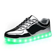 Uniseks Sneakers Comfortabel Zomer PU Causaal Goud Zilver Plat