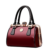 Women Bags All Seasons Patent Leather Tote with for Wedding Event/Party Casual Formal Office & Career Blue Black Red