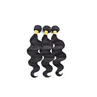 Υφάνσεις ανθρώπινα μαλλιών Βραζιλιάνικη Κυματομορφή Σώματος Περισσότερο από 1 Χρόνο 3 υφαίνει τα μαλλιά