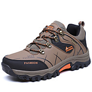 Hiking Shoes Men's Athletic Shoes Comfort PU Fall Winter Athletic Casual Outdoor Office & Career  Comfort Lace-up Flat HeelKhaki Army Green