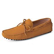 Férfi cipő Valódi bőr Bőr Tavasz Nyár Mokaszin Vitorlás cipők Kompatibilitás Hétköznapi Barna Világos piros Földsárga Kék Burgundi vörös