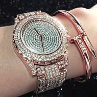 Női Divatos óra Karkötőóra Egyedi kreatív Watch Alkalmi óra Szimulált Gyémánt Karóra Kínai Kvarc Vízálló Strassz utánzat Diamond
