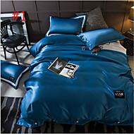 純色 4個 綿布 機械製 綿布 2×枕カバー 1×枕カバー 1×フラットシーツ