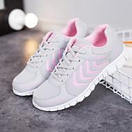 Kadın Atletik Ayakkabılar Hafif Tabanlar Ağ Yaz Sonbahar Atletik Günlük Koşu Hafif Tabanlar Alçak Topuk Beyaz Açık Gri Mavi 1inç Altı
