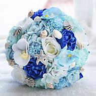 Свадебные цветы Букеты Свадебное белье Бусины Кружево 24 см